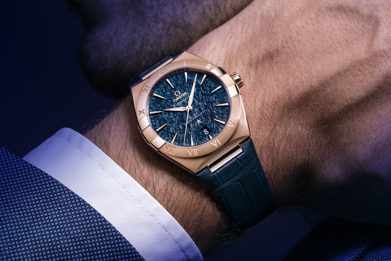 Omega Constellation 2020 Rose Gold Blue Dial